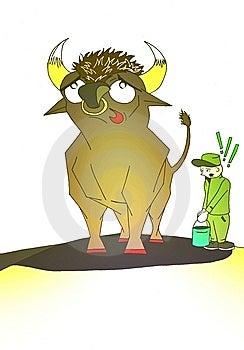 Bull Royalty Free Stock Image - Image: 10207196