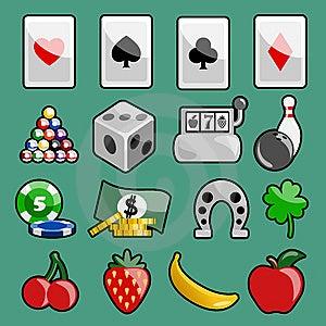 Casino Icons Royalty Free Stock Image - Image: 10208836
