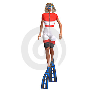 Female Diver With Snorkel Stock Images - Image: 10210034