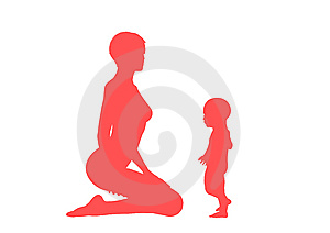 Mom And Her Child Stock Image - Image: 10213681