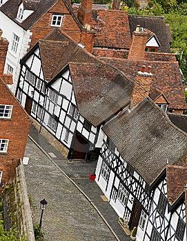 Warwick Old Houses Stock Image - Image: 10214581