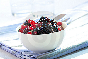 Redcurrants And Blackberries Royalty Free Stock Image - Image: 10215036