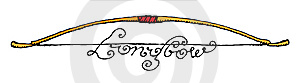 Longbow Illustration With Script Logo Stock Image - Image: 10216171