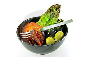 Salad Bowl And Fork Stock Images - Image: 10216204