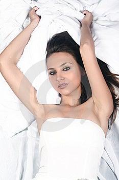 Young Woman Lying Stock Image - Image: 10217001