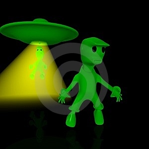 Aliens On Earth Royalty Free Stock Image - Image: 10219046