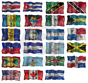 Set Of North America Flags Royalty Free Stock Image - Image: 10221306
