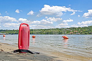 Lifeguard Buoy Royalty Free Stock Photo - Image: 10221425