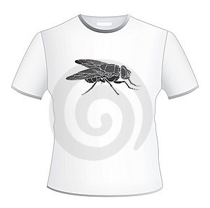 T-shirt Width Fly Royalty Free Stock Image - Image: 10222466