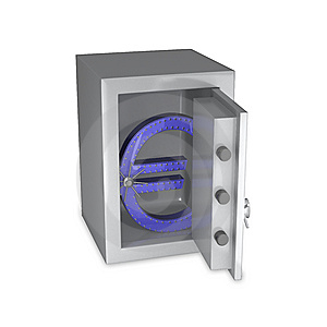 Euro Symbol Of Steel In A Safe Royalty Free Stock Images - Image: 10223339