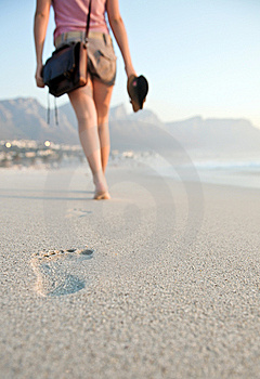 Sandy Toes. Royalty Free Stock Photos - Image: 10223398