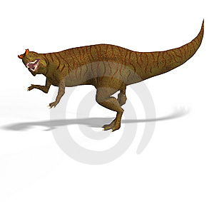 Giant Dinosaur Allosaurus With Clipping Path Over Stock Photo - Image: 10223410