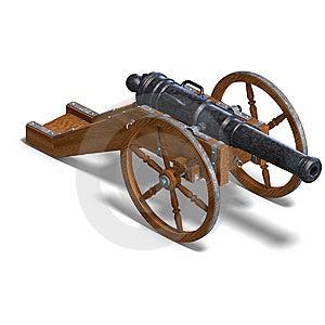 Cannone Dell'artiglieria Di Campo Fotografia Stock Libera da Diritti - Immagine: 10223495