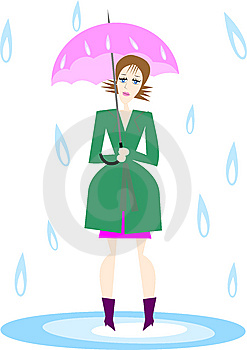 Woman_umbrella Stock Photo - Image: 10225230