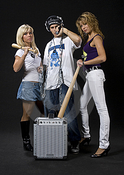 Ghetto Group Stock Image - Image: 10226681