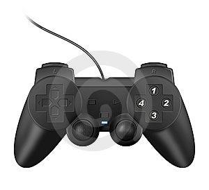 Realistic Black Joypad Royalty Free Stock Images - Image: 10228099