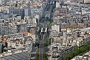 Paris From Top Royalty Free Stock Image - Image: 10228686