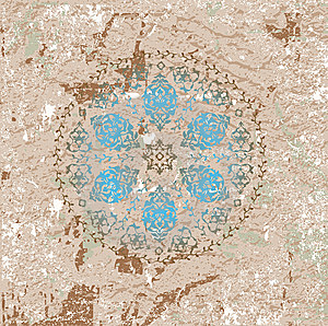 Antique Ottoman Grungy Wallpaper Raster Design Royalty Free Stock Image - Image: 10231646