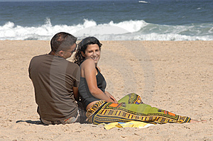 Lovely Couple On The Beach Royalty Free Stock Images - Image: 10233149