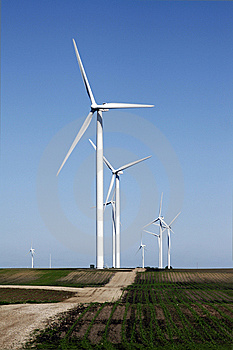 Wind Turbine On Dirt Road Stock Image - Image: 10234091