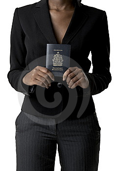 Woman Holding Canadian Passport Royalty Free Stock Photography - Image: 10234107