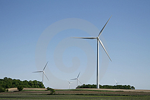Wind Turbine In Field Royalty Free Stock Photos - Image: 10234178