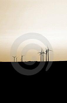 Sunset Turbines Stock Photography - Image: 10234352