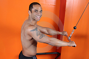 Weight Training At The Gym Royalty Free Stock Images - Image: 10234669