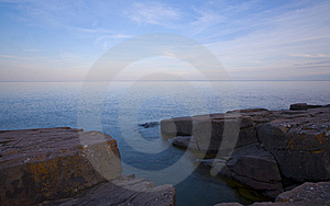 Stone And Light On The North Shore Stock Photos - Image: 10235153