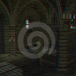 This Is An Anaglyph Image / Stereo Rendering Of A Royalty Free Stock Image - Image: 10238046