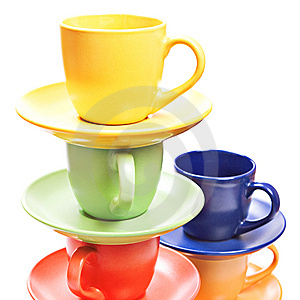 Color Cups Stock Photo - Image: 10238650