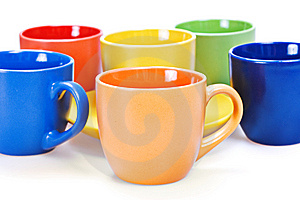 Color Cups Royalty Free Stock Images - Image: 10238769