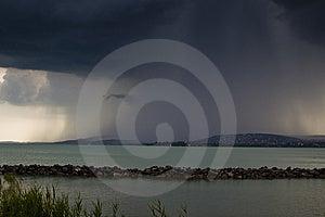 Storm Over The Lake Balaton Royalty Free Stock Image - Image: 10240226