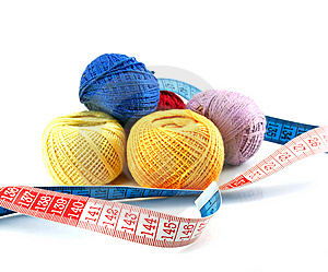 Balls And Measuring Tape Stock Photos - Image: 10242293