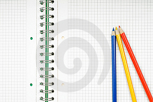 Notebook And Pencil On White Background Royalty Free Stock Images - Image: 10246669