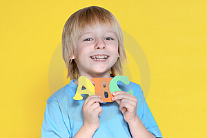 The Small Schoolboy With Letters Stock Images - Image: 10246964