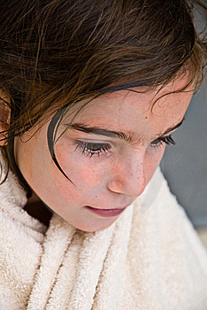 Young Girl With Towel Stock Photography - Image: 10247242