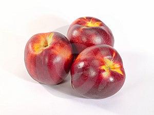 Fresh Ripe Peach With Drop Shadow. Stock Photos - Image: 10248073