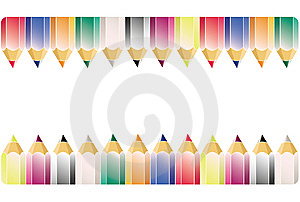 Colour Pencil Pattern Stock Photography - Image: 10249982