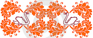 Floral Border/web Header Stock Photography - Image: 10250012