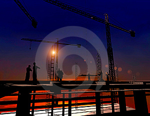Group Of The Workers Royalty Free Stock Images - Image: 10253929