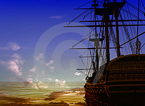 The Ancient Ship Royalty Free Stock Image - Image: 10254046