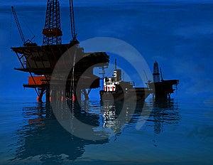 Production Of Petroleum Royalty Free Stock Photos - Image: 10254138