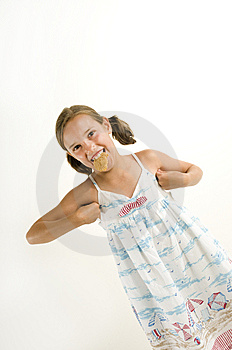 Young Girl Acting Like A Chicken Stock Photo - Image: 10255310