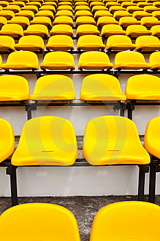 Colorful Seats In Stadium Stock Images - Image: 10260334