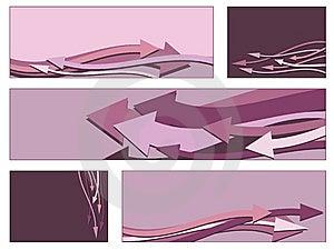 Pink Arrow Banners Stock Image - Image: 10260391