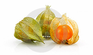 Cape Gooseberry (Physalis) Isolated On White Royalty Free Stock Image - Image: 10265196
