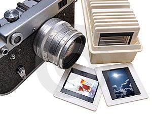 Rangefinder Camera And Slade Stock Image - Image: 10265291