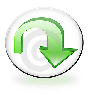 Circular Download Button Stock Image - Image: 10266251
