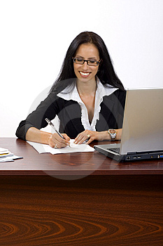Attractive Businesswoman At Her Desk Stock Photo - Image: 10267940